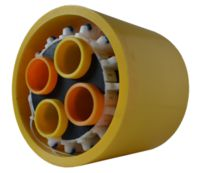 multi-pipe-through-same-casing-spacers-with-wheel-skids